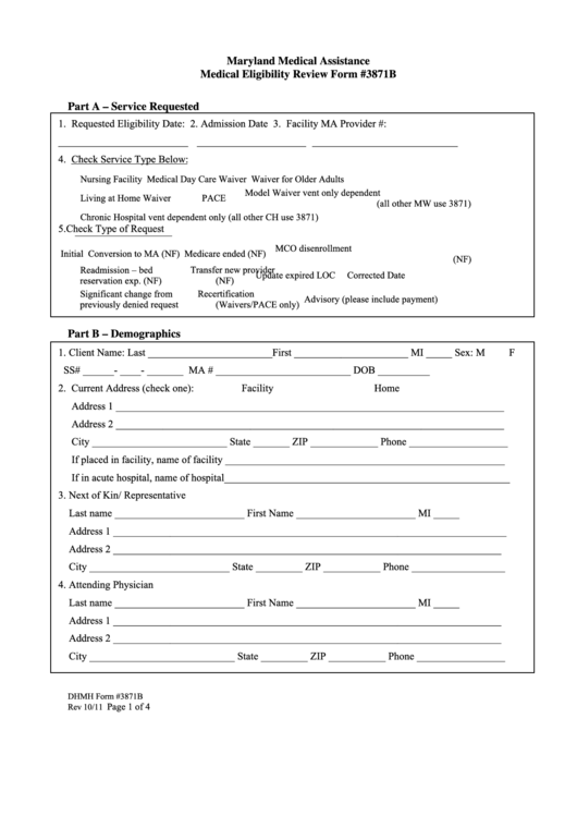 Medical Eligibility Review Form