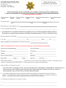 Application For License To Carry Concealed Handgun