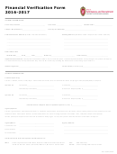 Financial Verification Form Office Of Admissions And Recruitment