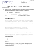 International Applicant Financial Statement Form - Georgia Institute Of Technology