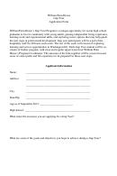 William Penn House Gap Year Application Form