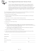 Domestic Partner Form Western Health Advantage