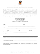 Registration For Graduate Students With Disabilities