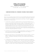 Limited Power Of Attorney Instructions Sheet