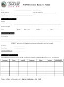 Ar/bi Invoice Request Form