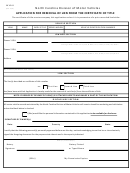 Form Mvr-8 - Application For Removal Of Lien From The Certificate Of Title