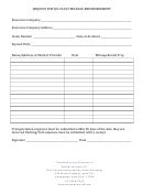 Request For No Fault Mileage Reimbursement