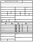 Soldier's Personal Data Sheet Template