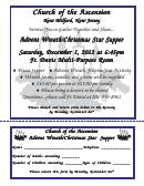 Advent Supper Invitation