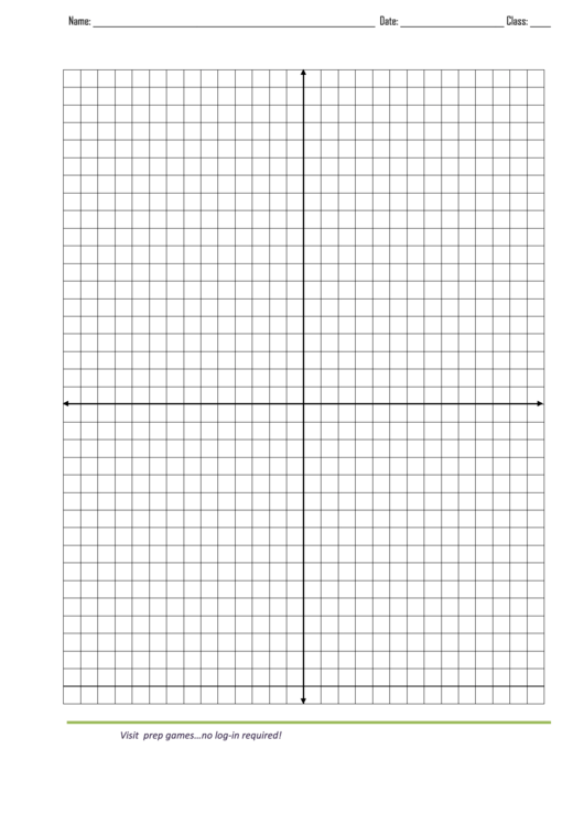 Graph Paper Template With X And Y Axis Printable pdf
