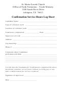 Confirmation Service Hours Log Sheet - St. Maria Goretti