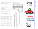 Business Vehicle Mileage Log For Tax Purposes