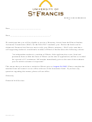 Independent Student Form - University Of St. Francis