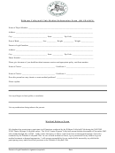 Wildcats Volleyball Club Medical Information Form (jo Season)