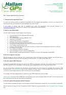 Gp Job Application Form