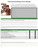 Telecommuting Request Form