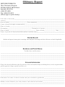 Obituary Report Template
