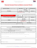 Form Dmv-pcf-01 - Parental Consent Form To Obtain A Learner Permit