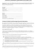 Electronic Transmission Authorization And Consent Form