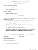 Student Release Form - Ycusd