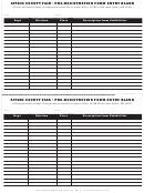 Pre-registration Form Entry Blank