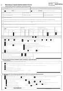 Business Travel Authorization Form