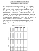 Directions For Putting Together The Multiplication & Division Chart