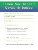 Shapes Of Covalently Bonded Lesson Plan Template