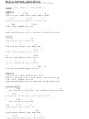 God & Sinner Reconcile Chord Chart