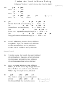 Christ The Lord Is Risen Today Chord Chart