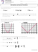 Ap Calculus Derivatives Of Inverse Functions Worksheet