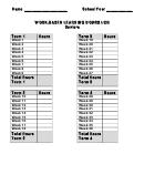 Work-based Learning Hours Log