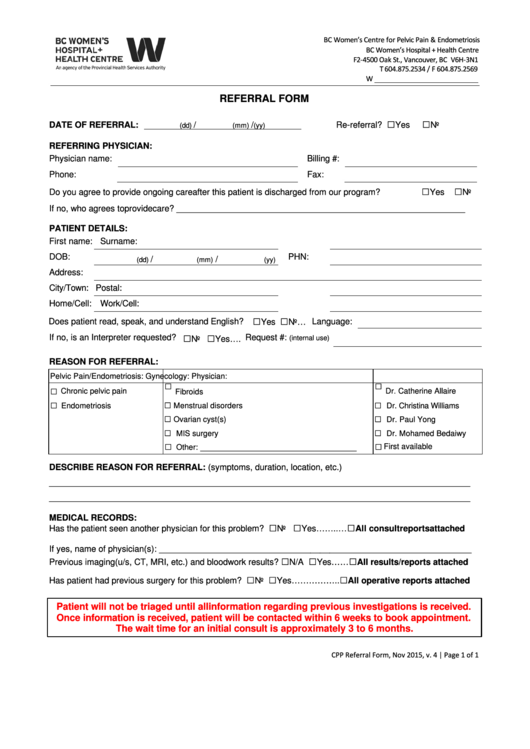 top 22 physician referral form templates free to download in pdf format