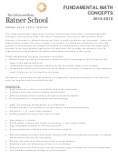 Fundamental Maths Concepts Syllabus Template 2014-2015
