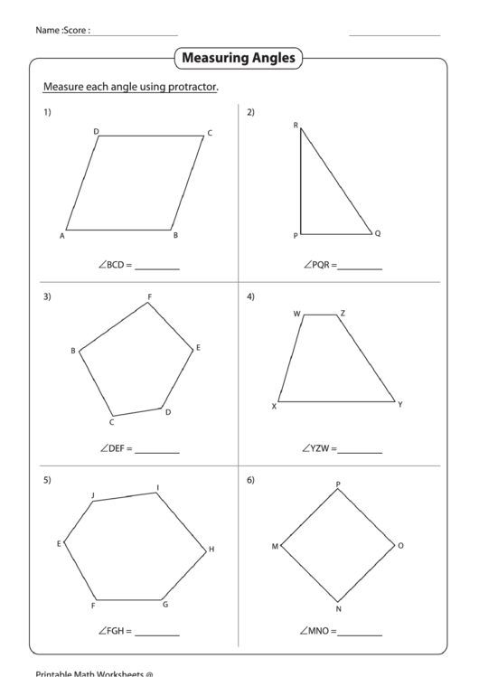 Measuring Angles Worksheet Printable Pdf Download. Measuring Angles Worksheet. Worksheet. Measuring Angles Worksheet At Mspartners.co