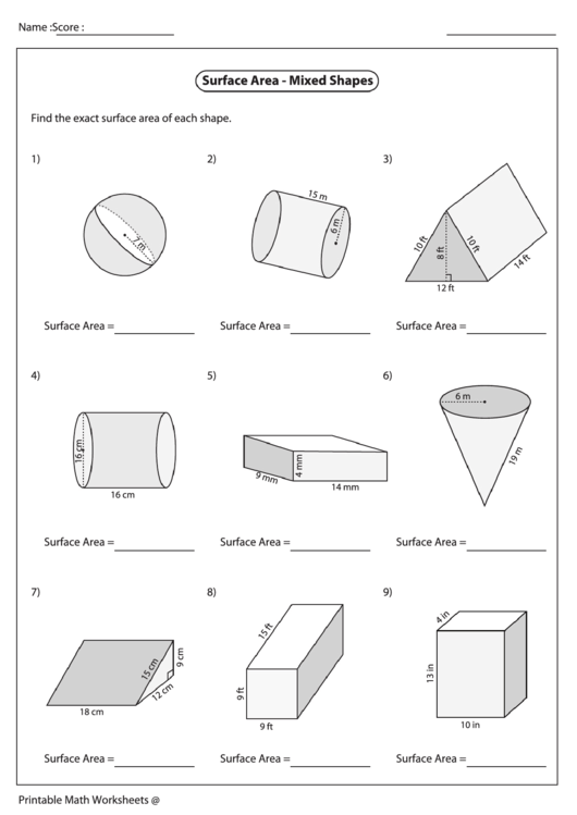 Geometry worksheets for kids