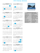 2016 Holiday Calendar Template