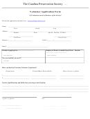 Volunteer Application Form Template