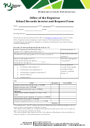 School Records Invoice And Request Form