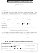 Bronco I.d. Card Authorization Release Form