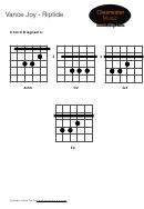 Vance Joy Riptide Barre Chord Chart
