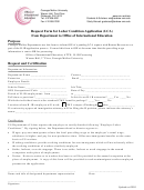 Request Form For Labor Condition Application (lca) From Department To Office Of International Education