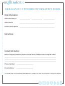 Customer Information Form - Brilliance