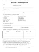 Appendix G Qe Request Form