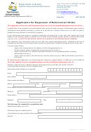 Application For Suspension Of An Enforcement Order - Department Of Justice - Tasmanian Government