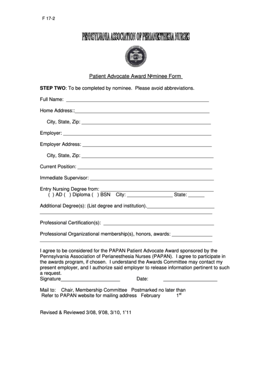 Top Patient Advocate Form Templates free to download in PDF, Word ...