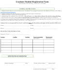 Graduate Student Registration Form - Department Of Psychology, University Of Florida