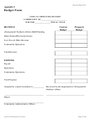Annual Operating Budget Form