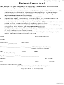 Electronic Fingerprinting Form - Florida Board Of Osteopathic Medicine