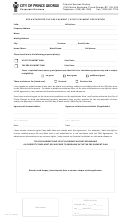 Pre-authorized Tax Pre-payment / Utility Payment Application